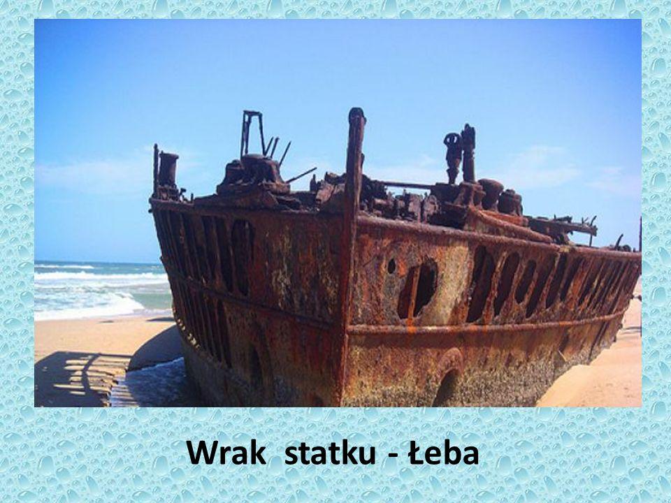 Wrak statku - Łeba