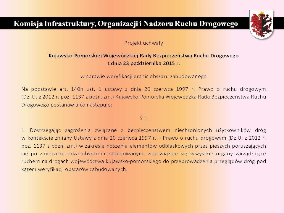 ZARZĄD DRÓG WOJEWÓDZKICH W BYDGOSZCZY Komisja Infrastruktury, Organizacji i Nadzoru Ruchu Drogowego