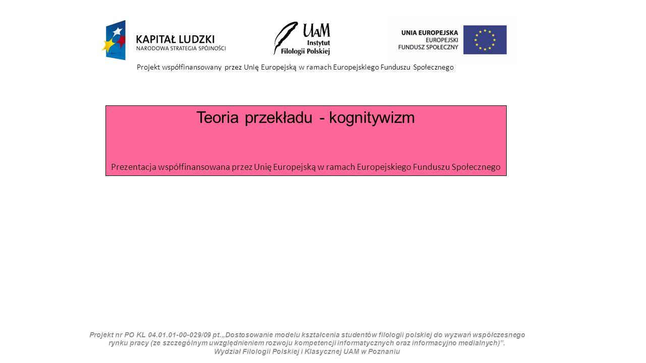 """Projekt nr PO KL 04.01.01-00-029/09 pt.""""Dostosowanie modelu kształcenia studentów filologii polskiej do wyzwań współczesnego rynku pracy (ze szczególnym uwzględnieniem rozwoju kompetencji informatycznych oraz informacyjno medialnych) ."""