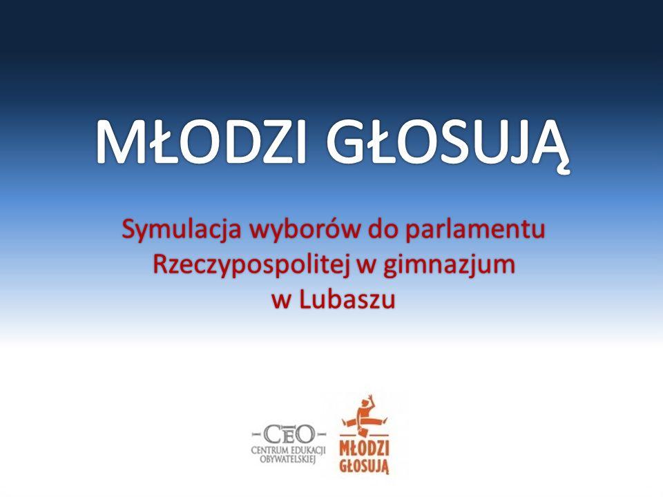 Symulacja wyborów do parlamentu Rzeczypospolitej w gimnazjum w Lubaszu