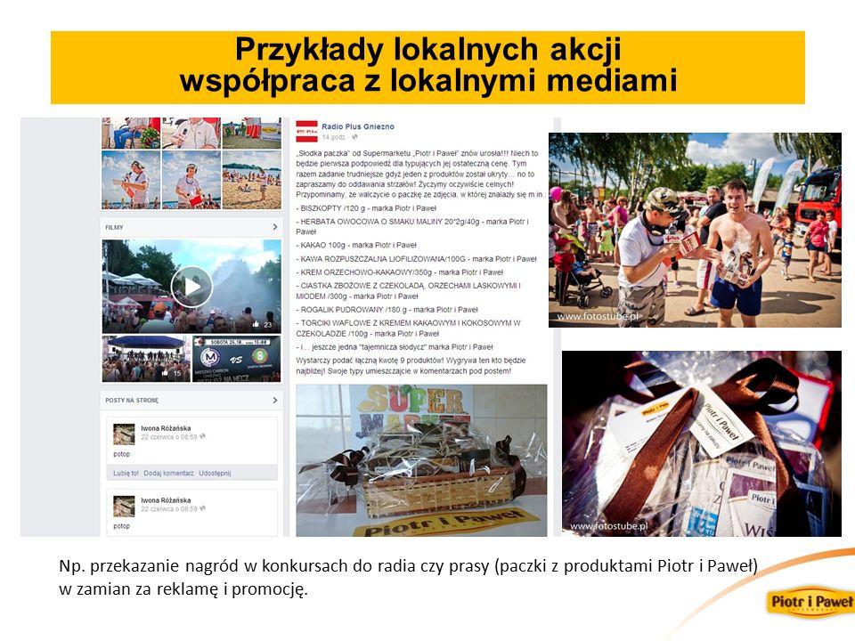 Przykłady lokalnych akcji współpraca z lokalnymi mediami Np.