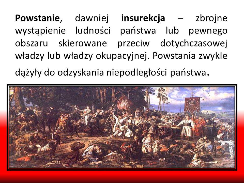 Polskie powstania 1794r.Powstanie Kościuszkowskie (przeciw Rosji i Prusom), 1806r.