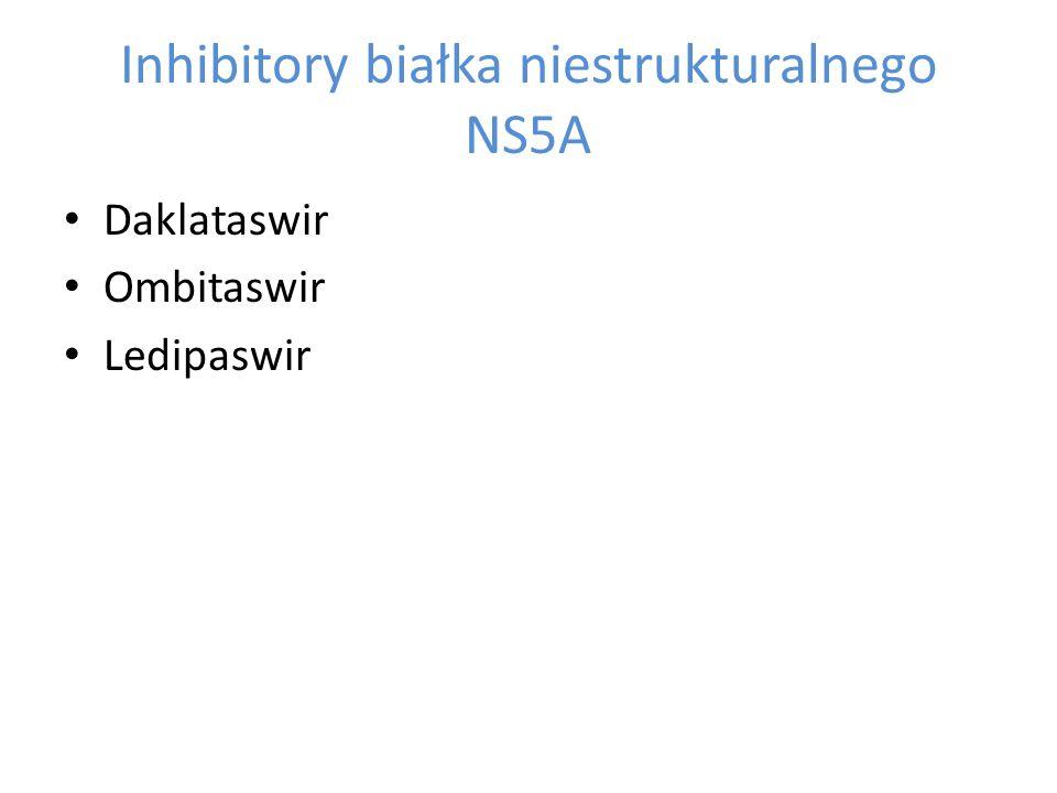 Inhibitory białka niestrukturalnego NS5A Daklataswir Ombitaswir Ledipaswir