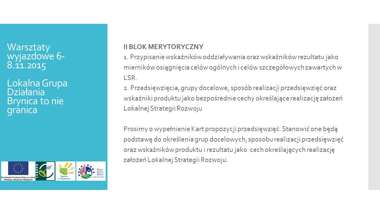 II BLOK MERYTORYCZNY 1.