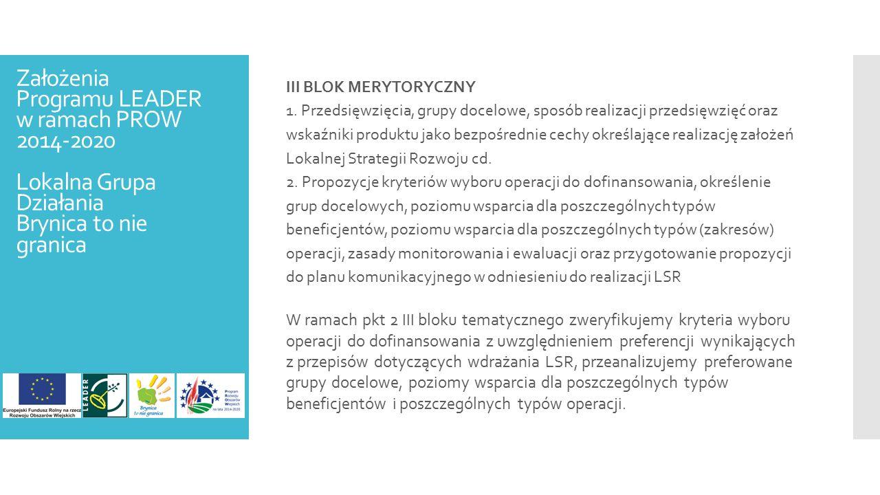III BLOK MERYTORYCZNY 1.