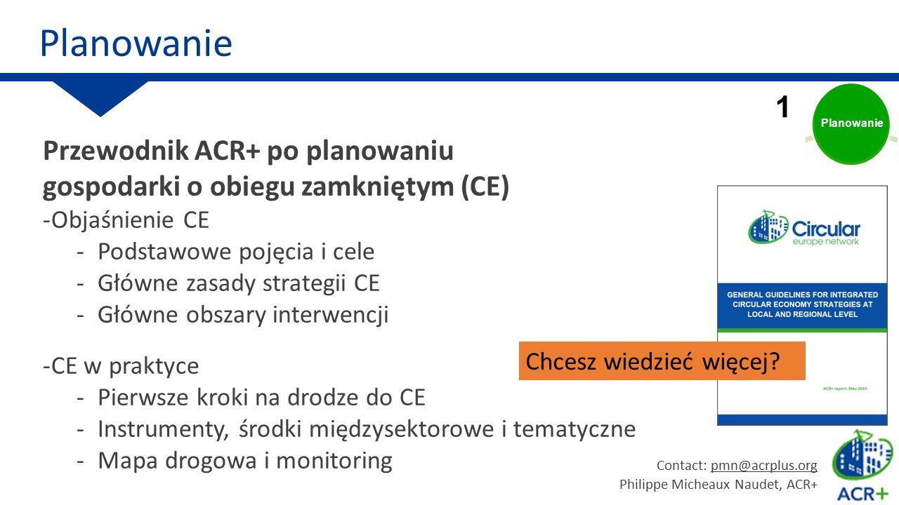 Circular economy Przewodnik ACR+ po planowaniu gospodarki o obiegu zamkniętym (CE) -Objaśnienie CE -Podstawowe pojęcia i cele -Główne zasady strategii