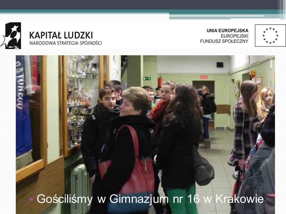 Gościliśmy w Gimnazjum nr 16 w Krakowie