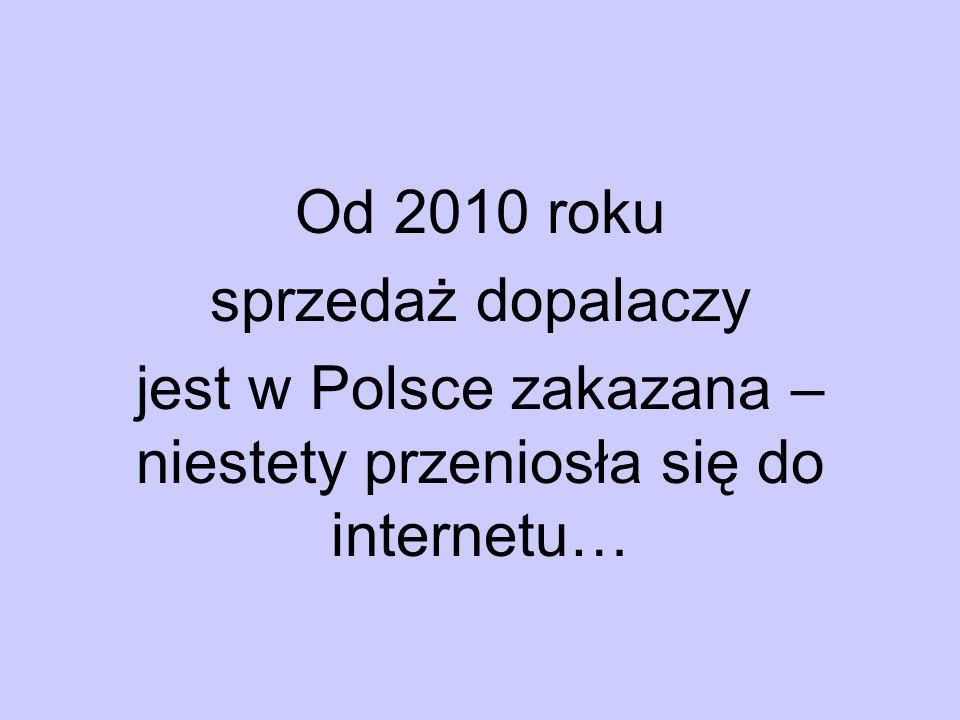 Od 2010 roku sprzedaż dopalaczy jest w Polsce zakazana – niestety przeniosła się do internetu…