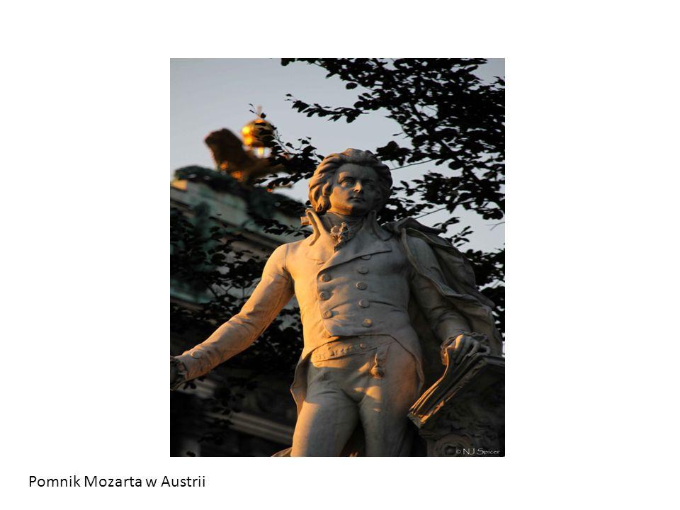 Pomnik Mozarta w Austrii
