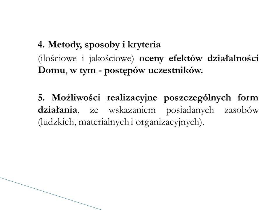 Program działalności sporządzany jest dla każdego typu odrębnie i jest dokumentem o charakterze stałym.