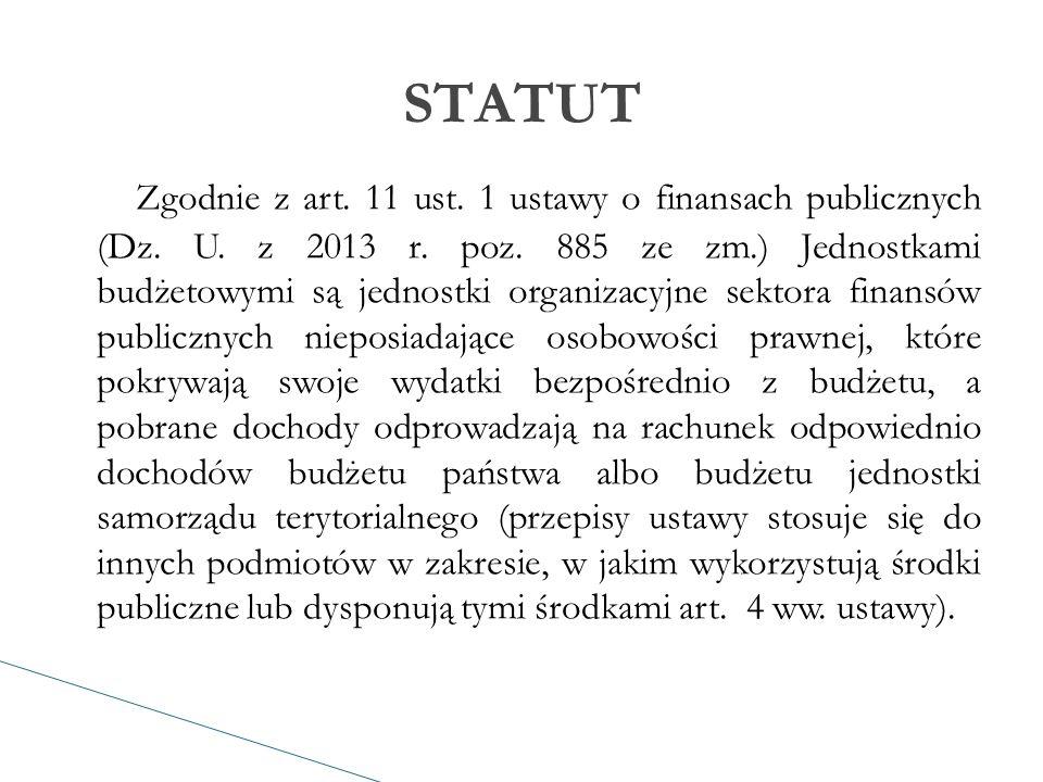 Zgodnie z art. 11 ust. 1 ustawy o finansach publicznych (Dz.