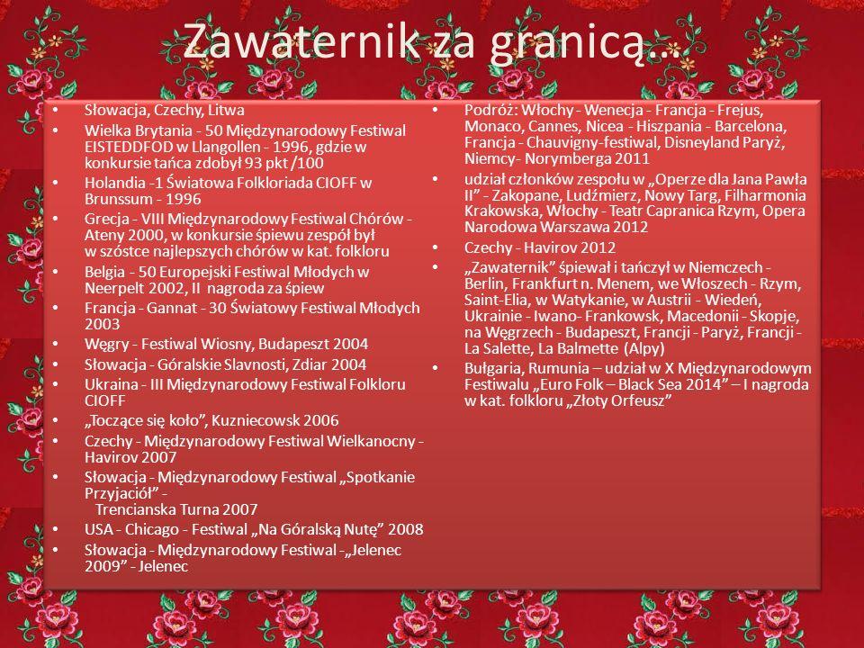 Zawaternik za granicą… Słowacja, Czechy, Litwa Wielka Brytania - 50 Międzynarodowy Festiwal EISTEDDFOD w Llangollen - 1996, gdzie w konkursie tańca zd