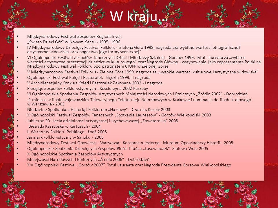 """W kraju… Międzynarodowy Festiwal Zespołów Regionalnych """"Święto Dzieci Gór"""
