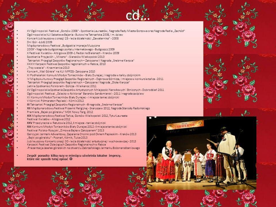 """cd… XV Ogólnopolski Festiwal """"Gorzów 2008"""" - Spotkanie Laureatów, Nagroda Rady Miasta Gorzowa oraz Nagroda Radia """"Zachód"""" Ogólnopolskie XLII Sabałowe"""