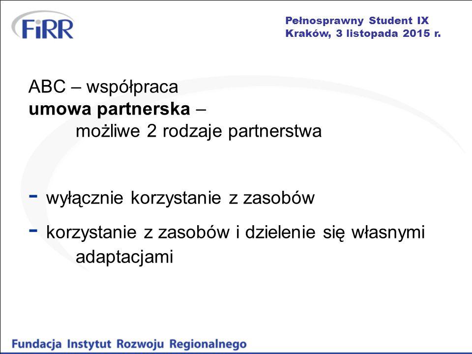 Pełnosprawny Student IX Kraków, 3 listopada 2015 r.