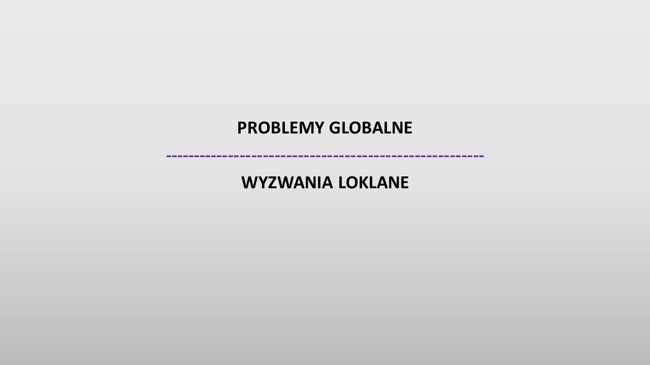 PROBLEMY GLOBALNE ------------------------------------------------------- WYZWANIA LOKLANE