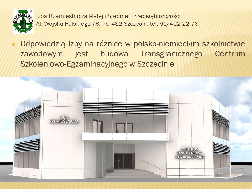 Izba Rzemieślnicza Małej i Średniej Przedsiębiorczości Al. Wojska Polskiego 78, 70-482 Szczecin, tel: 91/422-22-78  Odpowiedzią Izby na różnice w pol