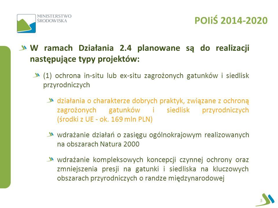 Kryteria wyboru projektów Kryteria wyboru projektów: formalne oceny merytorycznej I stopnia oceny merytorycznej II stopnia Przyjęte kryteria stanowią załącznik nr 3 do Szczegółowego opisu osi priorytetowych: https://www.pois.gov.pl/strony/o- programie/dokumenty/szczegolowy-opis-osi-priorytetowych- programu-operacyjnego-infrastruktura-i-srodowisko-2014- 2020/ 14