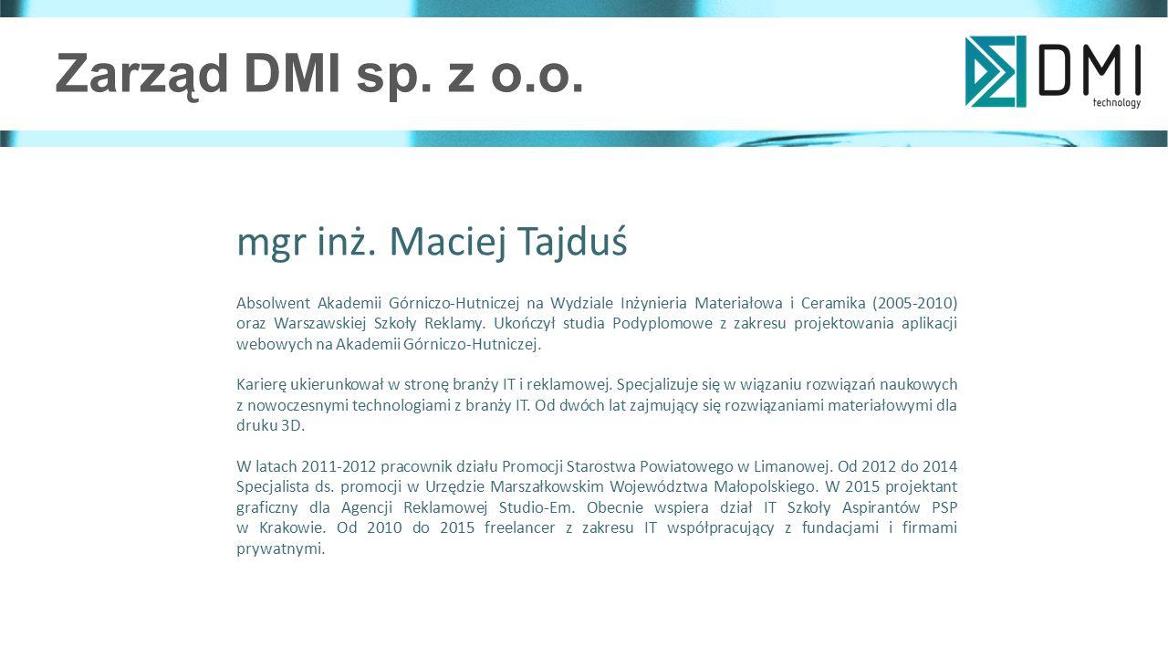 Zarząd DMI sp.z o.o. mgr inż.