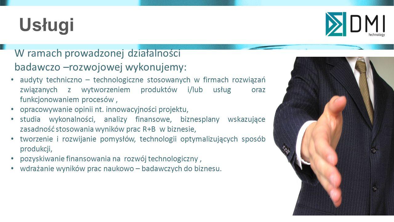 Usługi audyty techniczno – technologiczne stosowanych w firmach rozwiązań związanych z wytworzeniem produktów i/lub usług oraz funkcjonowaniem procesów, opracowywanie opinii nt.