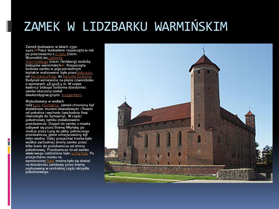 ZAMEK KRZYŻACKI W GRUDZIĄDZU Zamek krzyżacki w Grudziądzu – założony w XIII w., od 1466 r.