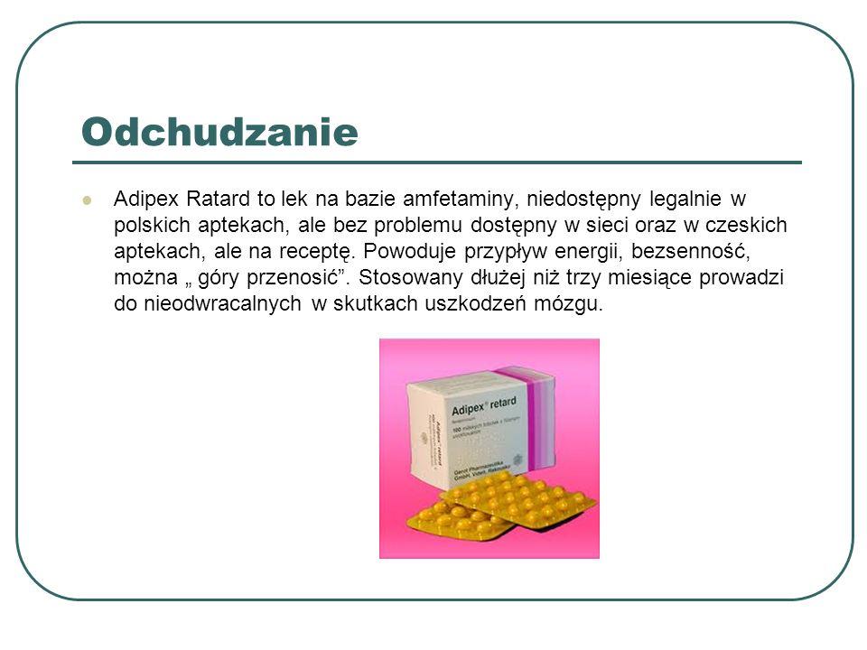 Odchudzanie Adipex Ratard to lek na bazie amfetaminy, niedostępny legalnie w polskich aptekach, ale bez problemu dostępny w sieci oraz w czeskich apte