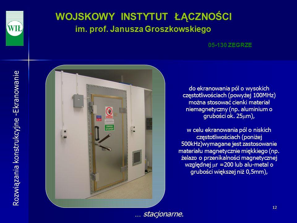 12 WOJSKOWY INSTYTUT ŁĄCZNOŚCI im. prof.