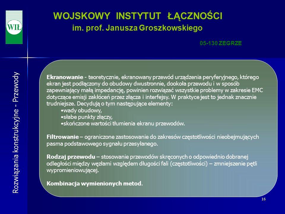 16 WOJSKOWY INSTYTUT ŁĄCZNOŚCI im. prof.