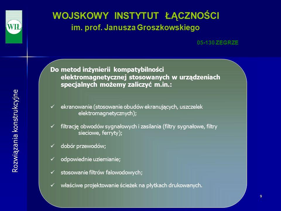 9 WOJSKOWY INSTYTUT ŁĄCZNOŚCI im. prof.