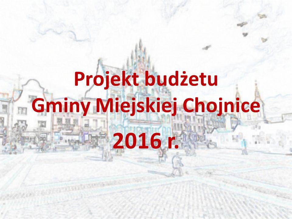 Projekt budżetu Gminy Miejskiej Chojnice 2016 r.
