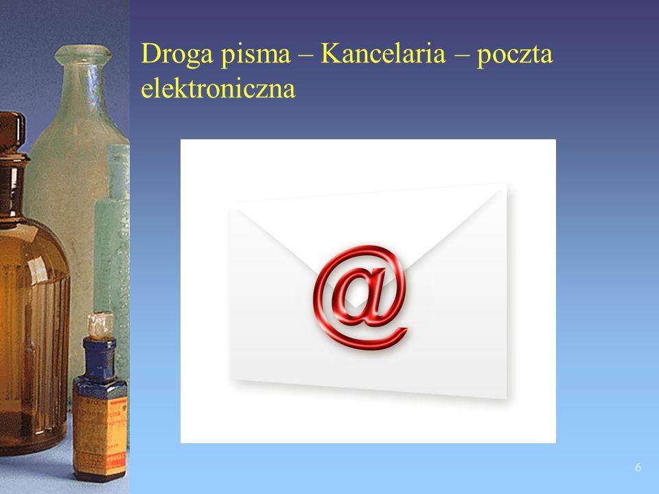 Droga pisma – Kancelaria - poczta tradycyjna – listy i przesyłki 5
