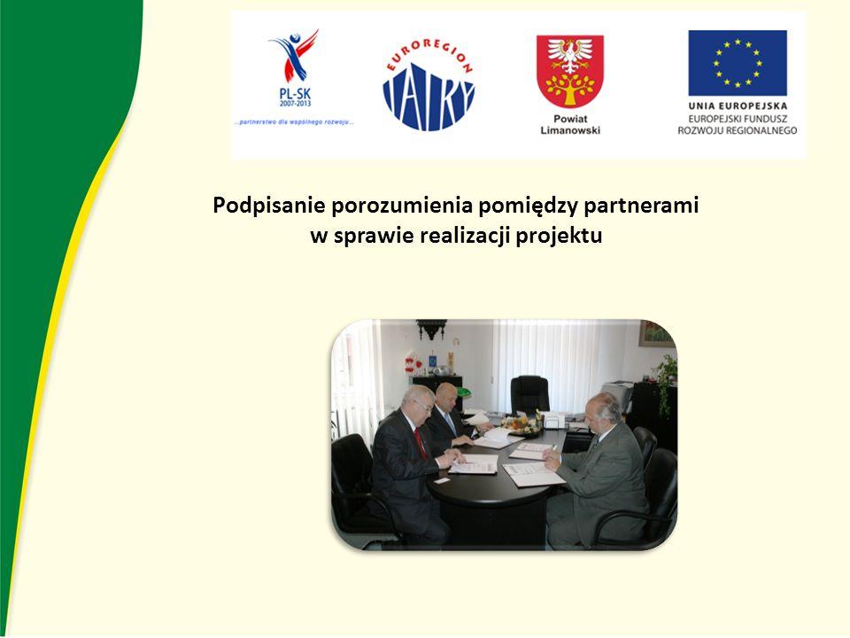 Podpisanie porozumienia pomiędzy partnerami w sprawie realizacji projektu