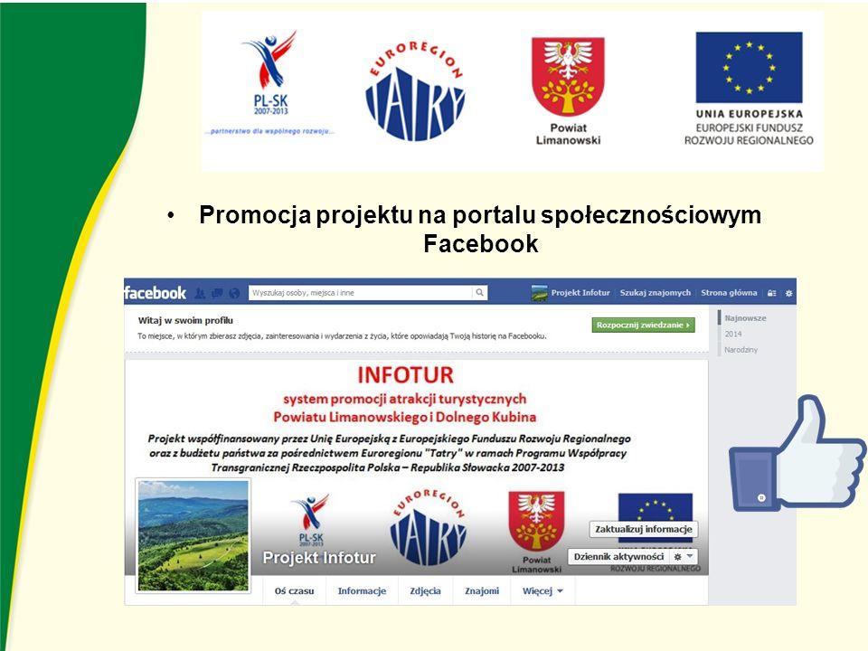 Promocja projektu na portalu społecznościowym Facebook