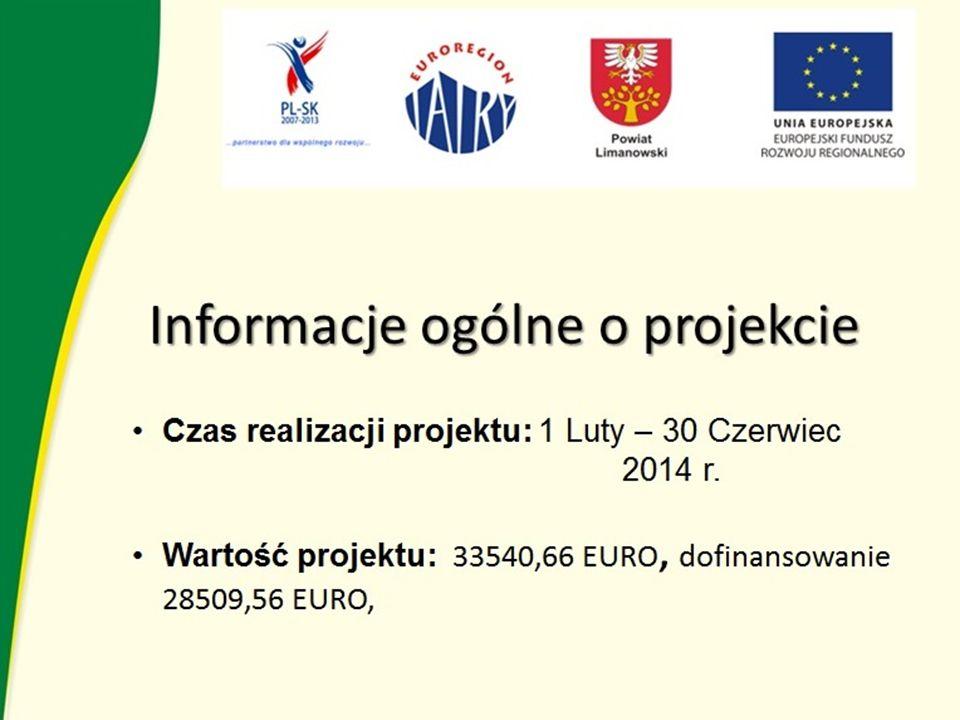 Informacje ogólne o projekcie Czas realizacji projektu: 1 Luty – 30 Czerwiec 2014 r.