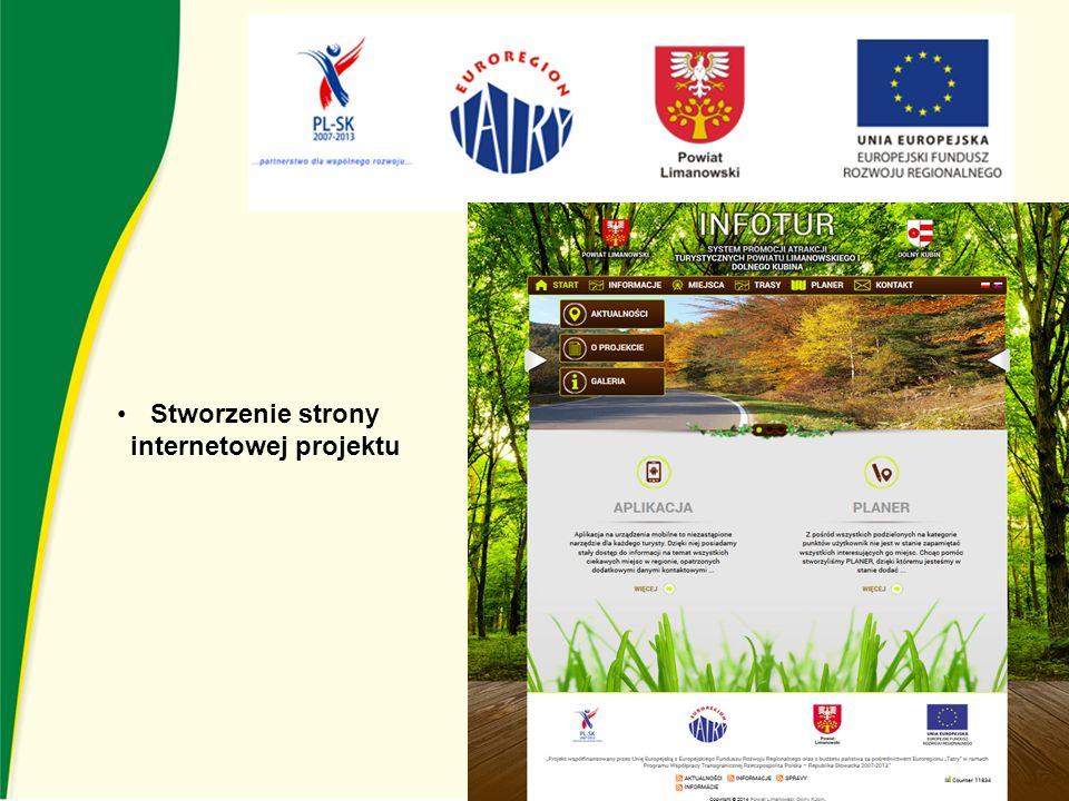Stworzenie strony internetowej projektu