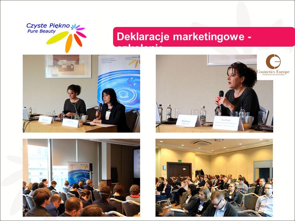Deklaracje marketingowe - szkolenie