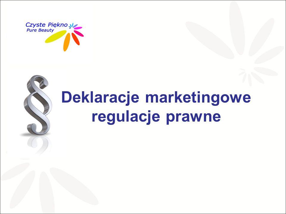 Deklaracje marketingowe regulacje prawne
