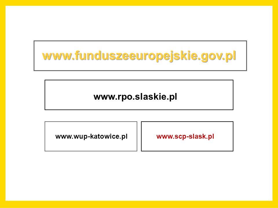 www.funduszeeuropejskie.gov.pl www.rpo.slaskie.pl www.wup-katowice.pl www.scp-slask.pl