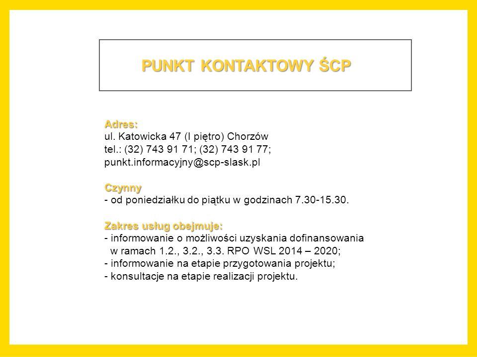 PUNKT KONTAKTOWY ŚCP Adres: ul.