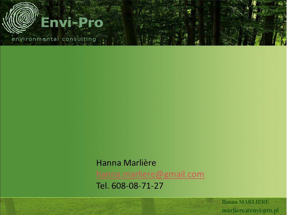 Hanna Marlière hanna.marliere@gmail.com Tel. 608-08-71-27