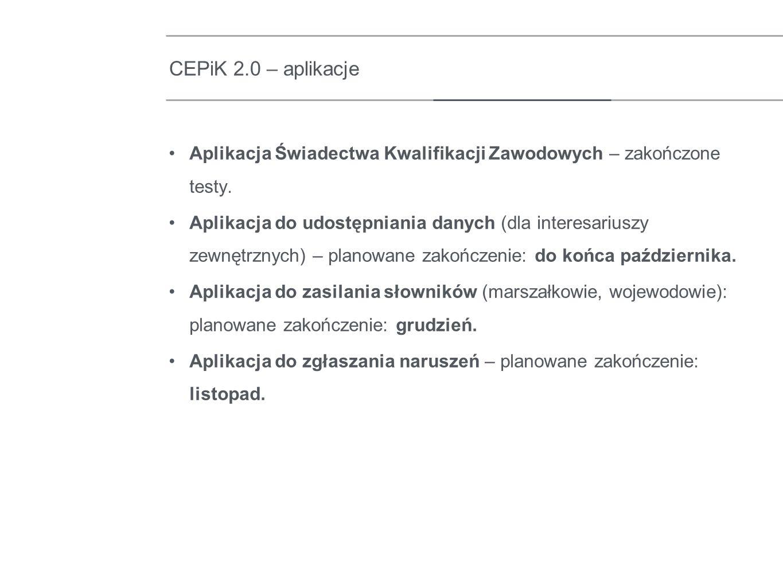 Trwa współpraca z: Policją w zakresie przekazania danych z Ewidencji Naruszeń – przekazano I zrzut danych, opracowano raport, wynik migracji: dowiązano 96,56% rekordów.