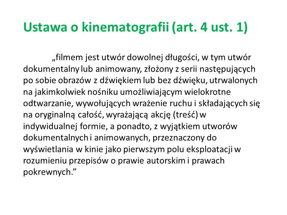 Ustawa o kinematografii (art. 4 ust.