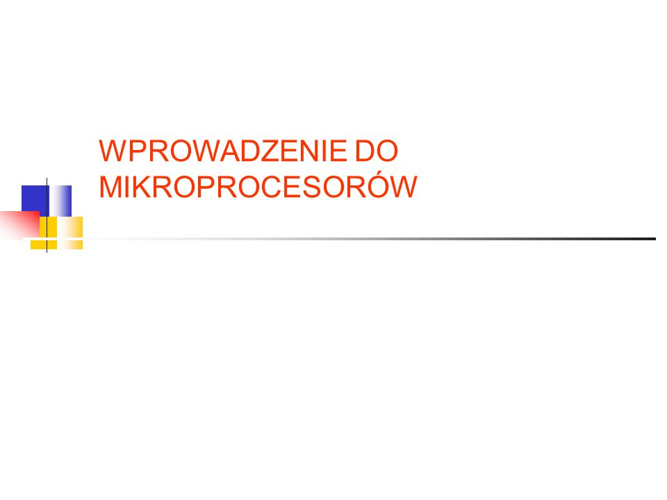 Klasyfikacja mikroprocesorów SIMD – ang.Single Instruction Multiple Data SISD – ang.