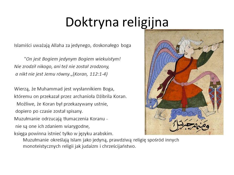 Doktryna religijna Islamiści uważają Allaha za jedynego, doskonałego boga On jest Bogiem jedynym Bogiem wiekuistym.