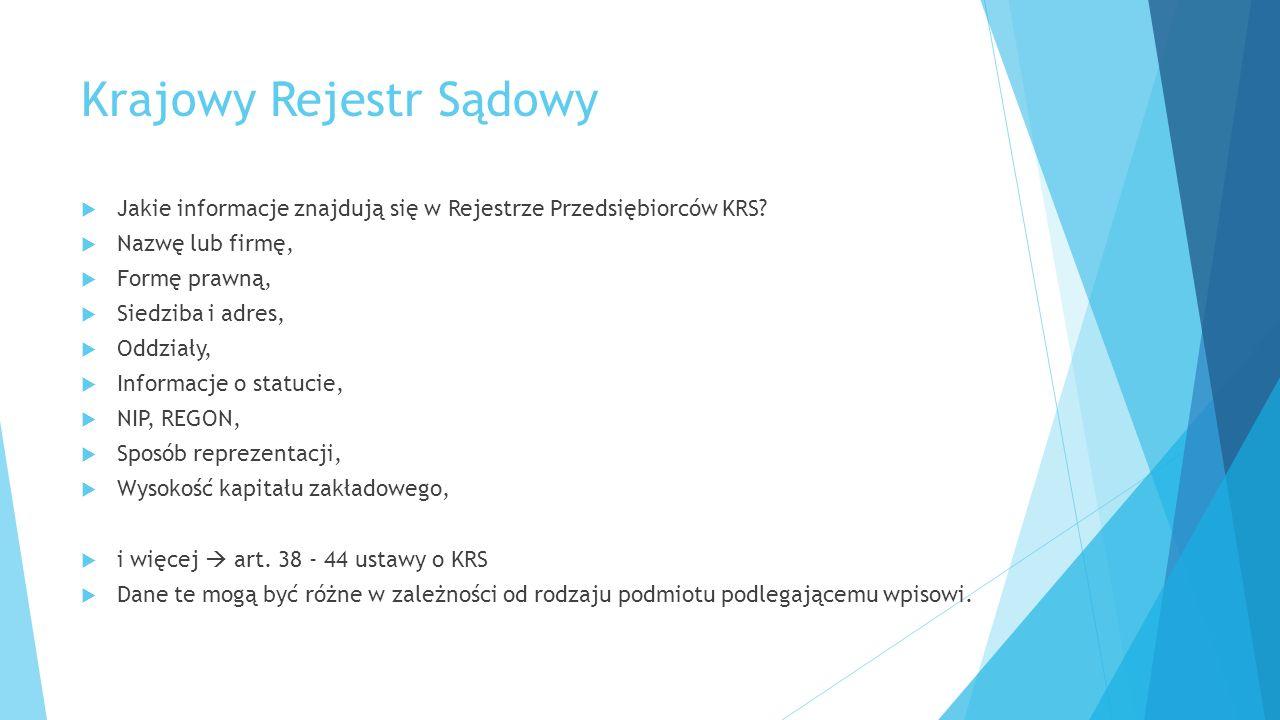 Przykład 1  Proszę odnaleźć spółkę KA – NA sp.z o.