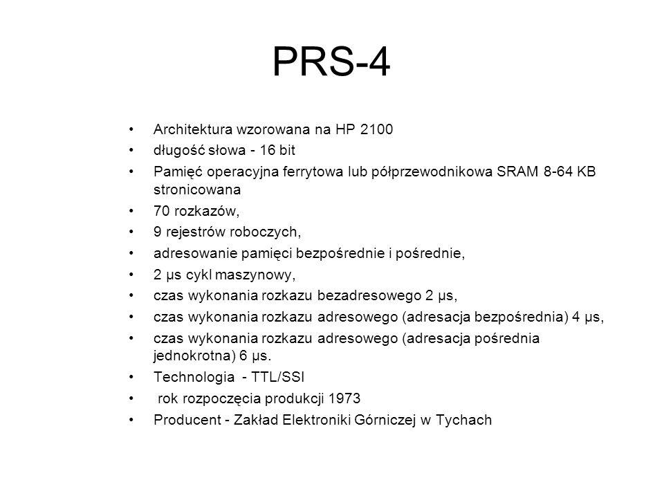 SM4 Maszyna z jednostka centralna produkcji ZSRR -Klon PDP11/40 długość słowa - 16 bit Pamięć operacyjna standardowo128 lub 256 KB. 8*10 5 operacji na