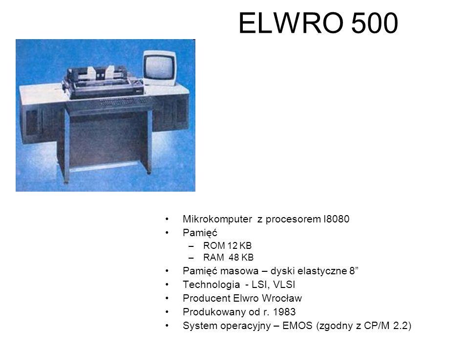 MERA 60 Maszyna z jednostką centralną Elektronika60 (zdjęcie poniżej) produkcji radzieckiej (klon DEC LSI-11) długość słowa - 16 bit Pamięć operacyjna