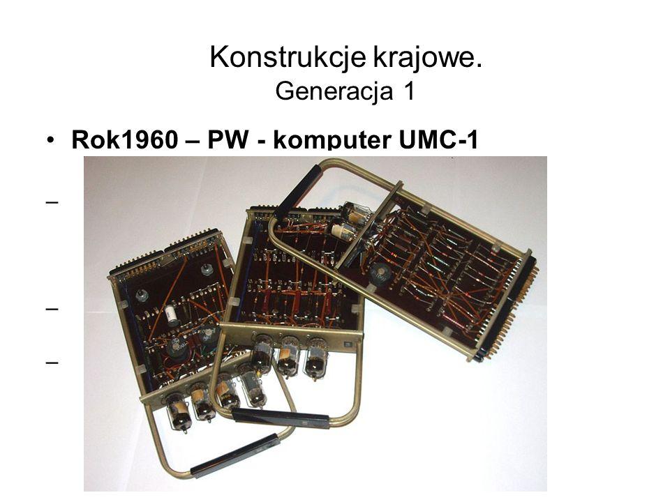 MERA 60 Maszyna z jednostką centralną Elektronika60 (zdjęcie poniżej) produkcji radzieckiej (klon DEC LSI-11) długość słowa - 16 bit Pamięć operacyjna max 64 KB 81 rozkazów, 2,5*10 5 operacji na sekundę Hardware'owa realizacja operacji zmiennoprzecinkowych Technologia - TTL/LSI 5 układów VLSI Producent MERA-STER Zabrze