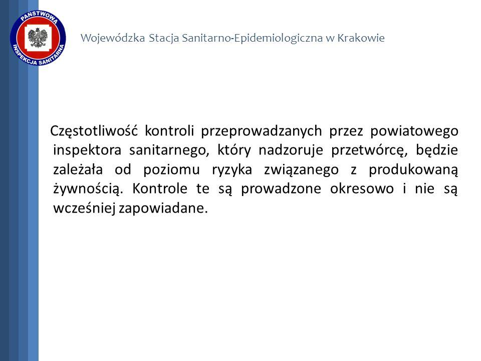 Wojewódzka Stacja Sanitarno-Epidemiologiczna w Krakowie Częstotliwość kontroli przeprowadzanych przez powiatowego inspektora sanitarnego, który nadzor