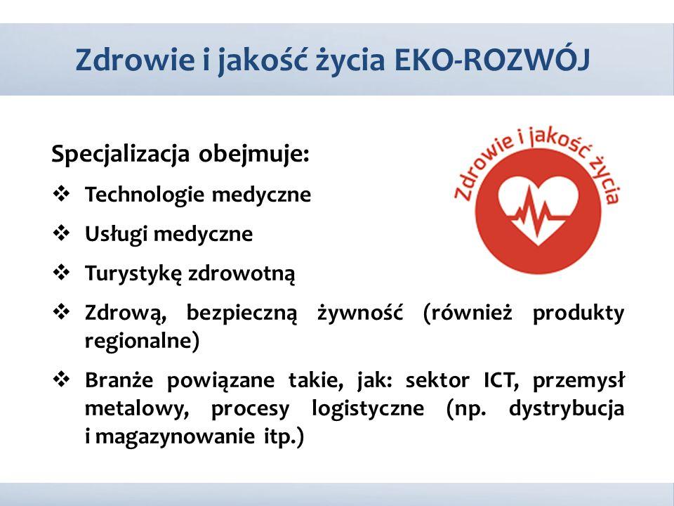 Specjalizacja obejmuje:  Technologie medyczne  Usługi medyczne  Turystykę zdrowotną  Zdrową, bezpieczną żywność (również produkty regionalne)  Br